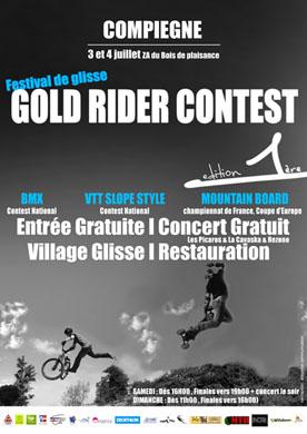 Affiche du Gold Rider Contest 2010