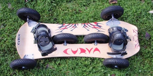 Curva board, vue de dessus