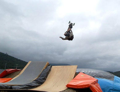 photo de l'airbag mountainboard de Payolle
