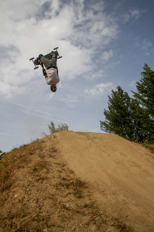 Nicky en backflip