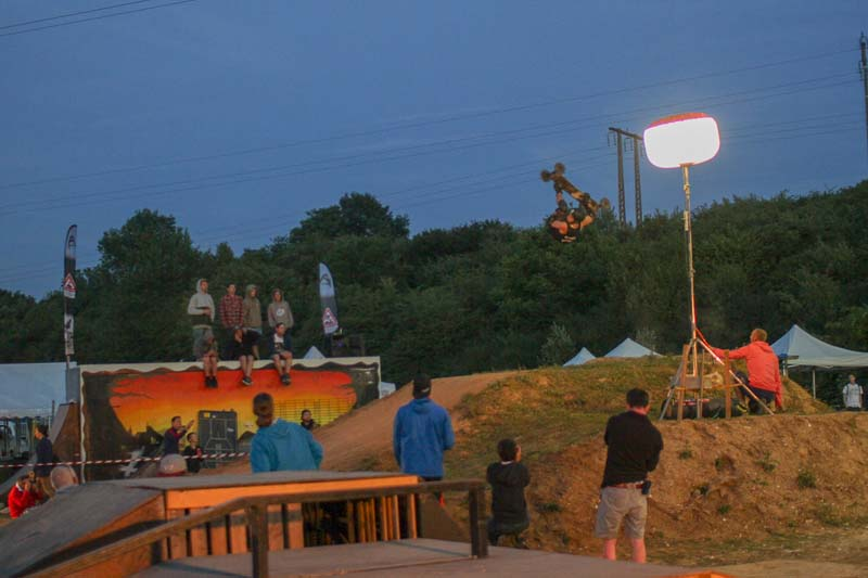 Matt Brind riding the freestyle course